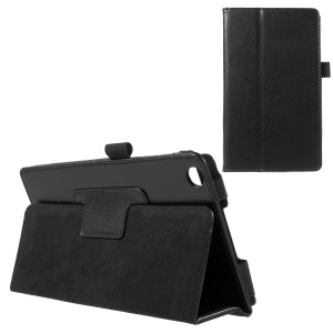Litchi Texture Leather Stand Cover for Asus ZenPad C 7.0 Z170MG - Black
