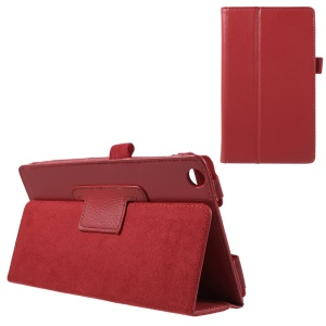 Litchi Texture Leather Stand Cover for Asus ZenPad C 7.0 Z170MG - Red