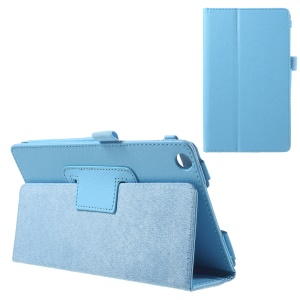 Litchi Leather Protective Cover for Asus ZenPad C 7.0 Z170MG with Stand - Baby Blue