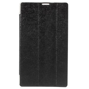 Silk Texture Leather Tri-fold Stand Shell for Asus ZenPad C 7.0 Z170MG - Black
