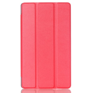 Tri-fold Stand Lychee Leather Cover for Asus ZenPad C 7.0 Z170MG - Red