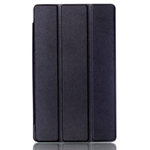 Litchi Skin Leather Smart Case for Asus ZenPad 8.0 Z380C Z380KL with Tri-fold Stand - Black