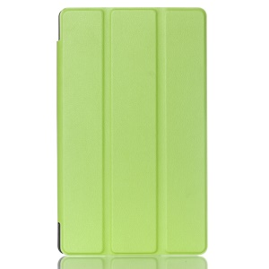 Litchi Skin Smart Leather Cover for Asus ZenPad 8.0 Z380C Z380KL with Tri-fold Stand - Green