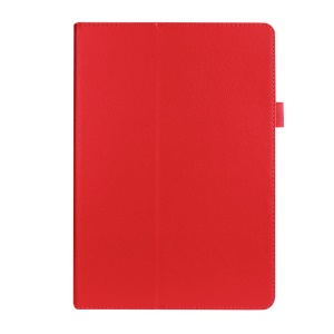 Litchi Skin Leather Stand Cover for Asus ZenPad 10 Z300C Z300CL Z300CG - Red