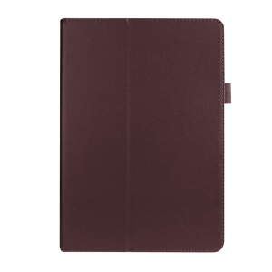 Litchi Skin PU Leather Stand Case Cover for Asus ZenPad 10 Z300C Z300CL Z300CG - Brown