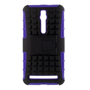 PC and TPU Hybrid Case for Asus Zenfone 2 ZE550ML ZE551ML with Kickstand - Purple