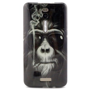 Soft IMD TPU Case for Asus Zenfone 2 ZE550ML ZE551ML - Smoking Orangutan