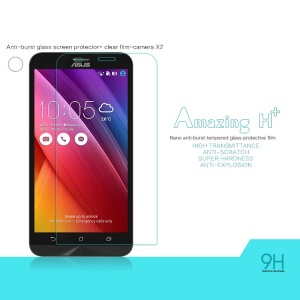 NILLKIN Amazing H+ Tempered Glass Screen Film for Asus Zenfone 2 ZE551ML Nanometer Anti-Explosion with Back Clear Protector
