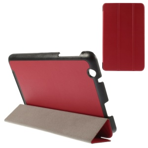 Smart Textured Leather Cover for Acer Iconia One 8 B1-810 A1410 with Tri-fold Stand - Red
