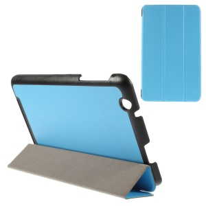 For Acer Iconia One 8 B1-810 A1410 Tri-fold Stand Smart Leather Shell - Blue