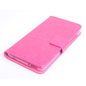 Crazy Horse Leatherette Wallet Stand Case for Acer Liquid Z500 - Rose