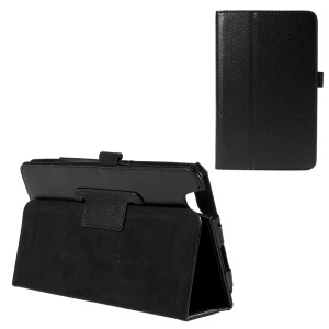 Litchi Skin Leather Case for Acer Iconia One 7 B1-750 with Stand - Black