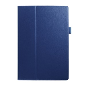 Litchi Skin Stand Leather Cover for Acer Iconia Tab 10 A3-A30 - Dark Blue