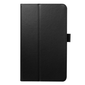 Litchi Skin Leather Stand Case for Acer Iconia One 8 B1-820 - Black