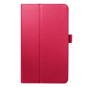 Litchi Skin PU Leather Case for Acer Iconia One 8 B1-820 with Stand - Rose