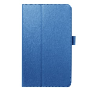 Litchi Skin Leather Stand Case Cover for Acer Iconia One 8 B1-820 - Baby Blue