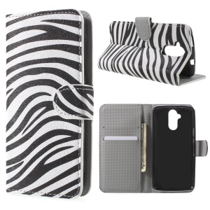 Leather Wallet Stand Cover for Acer Liquid Z410 - Zebra Stripes