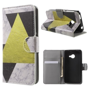 Leather Wallet Stand Cover for Acer Liquid Z220 - Triangles Pattern