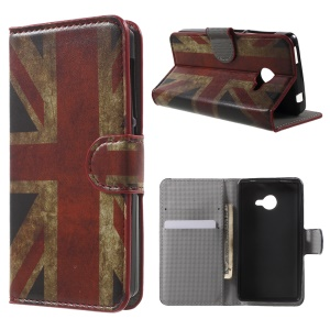 For Acer Liquid Z220 Leather Stand Shell Case - Vintage UK Flag