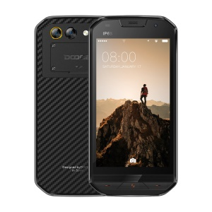 Doogee S30 5-inch IP68 Smartphone, Quad-Core 2GB+16GB Dual Camera Side Fingerprint Unlock - Black