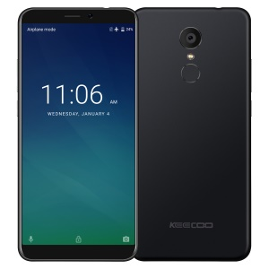 KEECOO P11 MTK6734 Quad Core Cell Phone 5.7 Inch Android 7.0 Smartphone 3050mAh Phone 2GB+16GB - Black