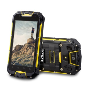 VCHOK M9 4.5-inch 4G Smartphone IP68 Waterproof Dustproof Shockproof 2+16GB with PTT - Yellow
