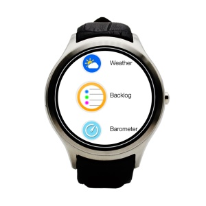 NO.1 D5 Bluetooth Android 4.4 Smartwatch Dual Core 512MB RAM + 4GB ROM IP65 Waterproof - Silver