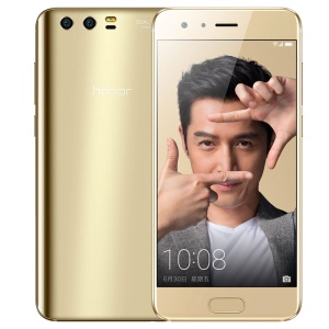HUAWEI Honor 9 6GB+128GB 5.15-inch EMUI 5.1 Octa-core 4G Smartphone Support NFC - Gold Color