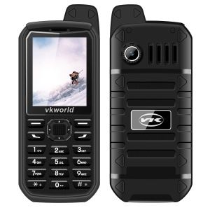 "VKWORLD Stone V3 Plus 2.4"" 2G IP54 Waterproof Shockproof Feature Phone with English Keypads - Black"