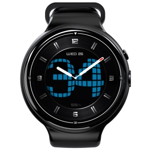 I4 Air 3G Smart Watch Phone 2G RAM 16G ROM Android 5.1 2MP Supporto Per La Frequenza Cardiaca Monitor - Nero