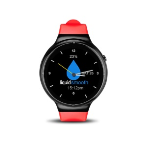 I4 Pro Android Watch Phone 1.39 inch Android 5.1 Quad Core 2G+16G 3G Smartwatch - Red + Black