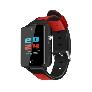 S9 Bluetooth Smart Watch 3G Android 5.1 Phone Support Nano SIM 512MB RAM 4GB ROM - Black / Red