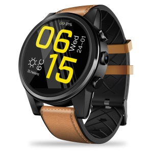ZEBLAZE Thor 4 Pro 4G Smart Watch 1.6 inch Crystal Display Quad Core 1+16GB - Brown