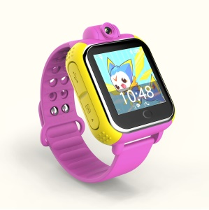 Q730 Multifunctional 3G Smart Watch Phones for Kids with GPS Tracker for Android and iOS - Purple