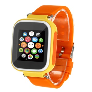 Q80 Kids Children Smart Watch GPS SOS Phone Call Location Device Tracker Bracelet Baby Anti-lost Watch - Yellow
