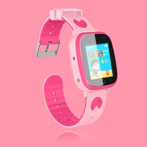 Q11 Kids GPS Tracker Smart Watches Waterproof 1.44 inch Screen SOS GPS LBS Location Clock - Pink