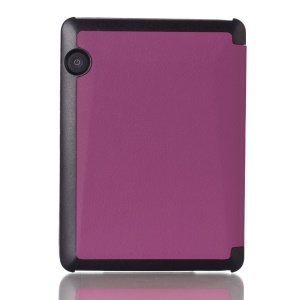 Magnetic Closure Smart Leather Flip Cover Case for Amazon Kindle Voyage - Purple