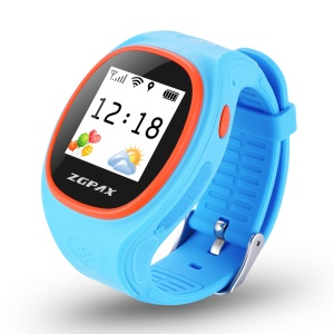 ZGPAX S866 2-way Conversation Kids Watch con SOS GPS etc - Blu
