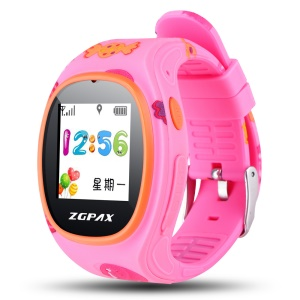 ZGPAX S866 2-way Conversation Kids Watch with SOS GPS etc - Pink / Candy Pattern