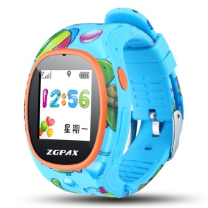 ZGPAX S866 2-way Conversation Kids Watch with SOS GPS etc - Blue / Animal Pattern