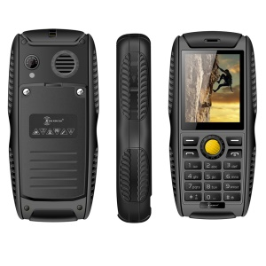 KENXINDA W3 Rugged IP68 Waterproof Mobile Phone with 2.2-Inch Screen Dual SIM - Black