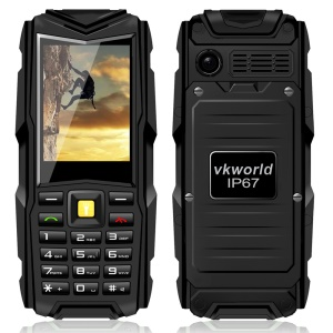 "VKWORLD Stone V3 2.4"" Waterproof/Dropproof/Dustproof Mobile Phone 64MB Big Memory GSM Network - Black"