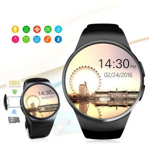 KW18 1.3 inch IPS LCD Bluetooth Smart Watch Phone Support SIM/TF Card with Heart Rate Pedometer Sedentary etc - Grey