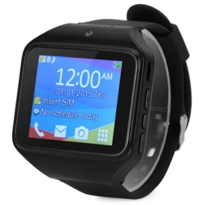 "KENXINDA S-watch 2.0"" Smart Watch with Bluetooth Camera G-sensor - Black"