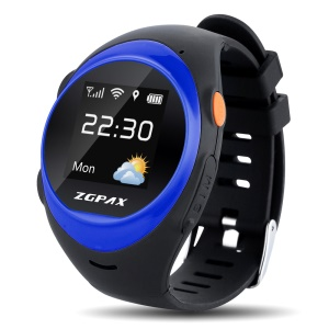 ZGPAX S888 Kids Elder GPS Tracking Watch Phone SOS Tracking Anti-falling Alarm - Blue