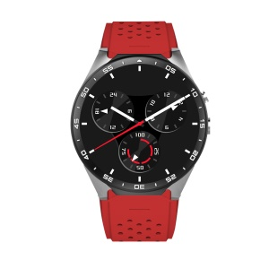 KW88 Android 5.1 Smart Watch 3G Phone 1.39 Inch MTK6580 Quad-core 4GB+512MB - Grey / Red