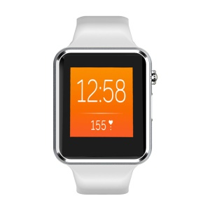 W08 1.54-Inch Bluetooth Smart Watch Phone 128MB+64MB with 0.3MP Rear Camera - Grey