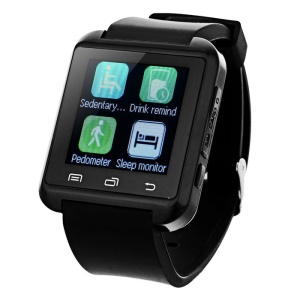 """1.44"""" Touch Screen Smart Bluetooth Watch Phone Support SIM Card, Voice Chat, LBS Tracking -  Black"""