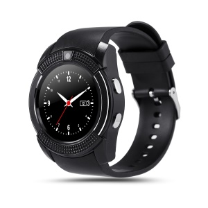 V8 1.22 Inch Smart Watch Android Phone MTK6261D - Black