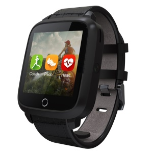UWATCH U11S 3G Android Watch Phones with Heart Rate Detection, GPS Navigation, Multi-functions - Black